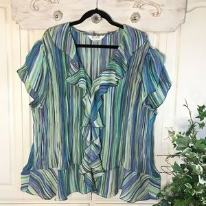 Allison Taylor Ruffled Top Size 3X